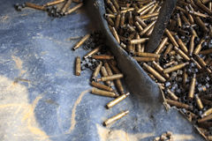 Automatic weapon shells Royalty Free Stock Images