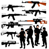 Automatic Weapons Set Stock Photo