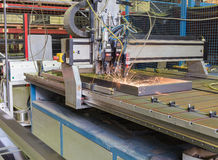 Automatic welding. Process in the production of Stock Photos