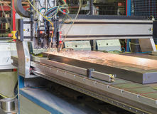 Automatic welding. Process in the production of Royalty Free Stock Photography