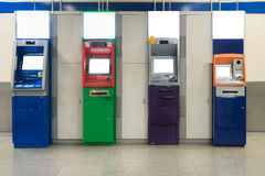 Automatic withdrawal device machine in subway. Colorful ATM mach. Ine Royalty Free Stock Images
