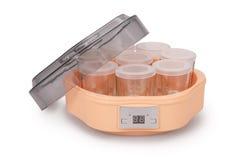 Automatic Yogurt Maker (Clipping path) Royalty Free Stock Image