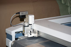 Automatically cutting textile web Royalty Free Stock Photos