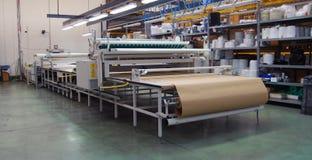 Automaticamente cortando o Web de matéria têxtil Imagens de Stock Royalty Free