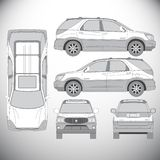 automatics 图形设计的模板 库存例证