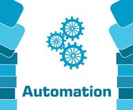 Automation Blue Abstract Shapes Square vector illustration