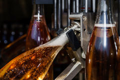 Automation bottling line for produce champagne in Alsace Royalty Free Stock Images