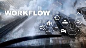 Automation of business workflows. Work process. Reliability and repeatability in technology and financial processes. Automation of business workflows. Work royalty free stock photography