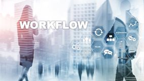 Automation of business workflows. Work process. Reliability and repeatability in technology and financial processes.  royalty free stock photos