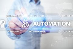 Automation concept as an innovation, improving productivity, reliability in technology and business processes. Automation concept as an innovation, improving Stock Photography