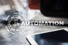 Automation concept as an innovation, improving productivity, reliability in technology and business processes. Automation concept as an innovation, improving stock photo