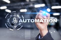 Automation concept as an innovation, improving productivity in technology and business processes. Automation concept as an innovation, improving productivity Royalty Free Stock Photo