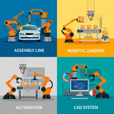 Automation Concept Icons Set Stock Photography