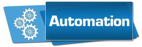 Automation Blue Side Squares vector illustration