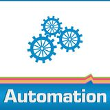 Automation Bottom Text Blue Colorful vector illustration