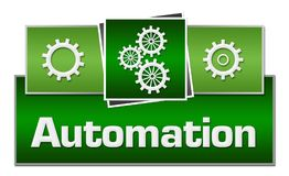 Automation Green Squares On Top Royalty Free Stock Image