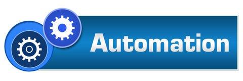 Automation Two Blue Circles Horizontal royalty free illustration