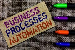 Automation för processar för affär för handskrifttexthandstil Begreppsbetydelse som utförs för att uppnå digital omformningsPaper Royaltyfri Fotografi