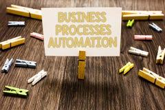 Automation för processar för affär för textteckenvisning Begreppsmässigt foto som utförs för att uppnå den digitala omformningskl Royaltyfria Bilder