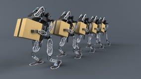 Automation générative - illustration 3D illustration stock