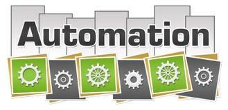 Automation Green Grey Squares Stripes stock illustration
