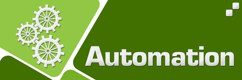 Automation Green Rounded Squares Horizontal royalty free illustration