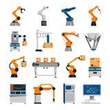 Automation Icons Set Stock Photography