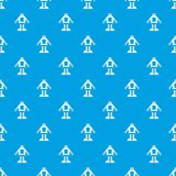 Automation machine robot pattern seamless blue. Automation machine robot pattern repeat seamless in blue color for any design. Vector geometric illustration Royalty Free Stock Photography