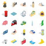 Automation management icons set, isometric style. Automation management icons set. Isometric set of 25 automation management vector icons for web isolated on Stock Photos
