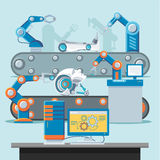 Automation Manufacturing Template Stock Photos
