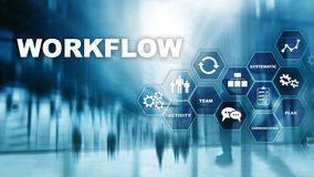 Free Automation Of Business Workflows. Work Process. Reliability And Repeatability In Technology And Financial Processes. Stock Images - 135938674