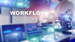 Free Automation Of Business Workflows. Work Process. Reliability And Repeatability In Technology And Financial Processes. Stock Photos - 150979493