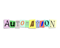 Automation Paper Letters Stock Photo