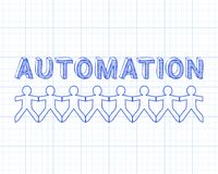 Automation People Graph Paper Royalty Free Stock Photography