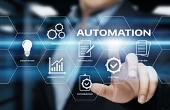 Automation Software Technology Process System Business concept.  Royalty Free Stock Images