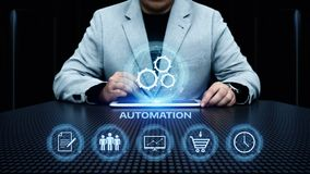 Automation Software Technology Process System Business concept.  stock image