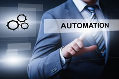 Automation Software Technology Process System Business concept.  Royalty Free Stock Photo