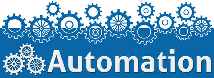 Automation Text With Gears On Top Stock Photo