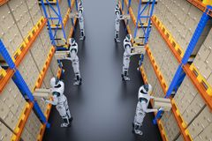 Free Automation Warehouse Concept Stock Image - 143470531