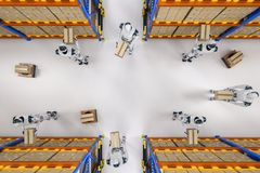 Automation warehouse concept stock photography