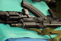 Automatique avec un lance-grenades Images libres de droits