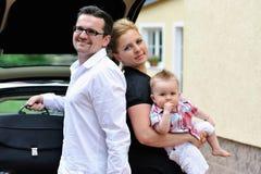 Automatique-voyage de famille Images stock