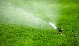 Automatisch het water geven gazon Royalty-vrije Stock Afbeelding