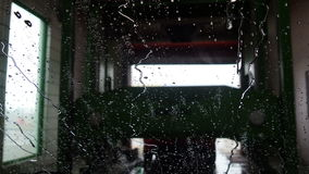 Automatische Autowasserette stock videobeelden
