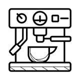 Automatische Espresso-Maschinen-flache Ikone vektor abbildung