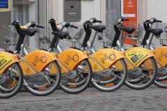 Automatische fietshuur stock afbeeldingen