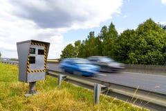 Automatische Geschwindigkeitskamera Stockfotografie