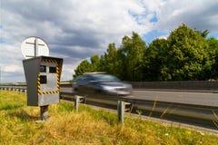 Automatische Geschwindigkeitskamera Stockbild