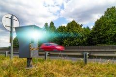 Automatische Geschwindigkeitskamera Stockfotos