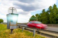 Automatische Geschwindigkeitskamera Lizenzfreies Stockbild
